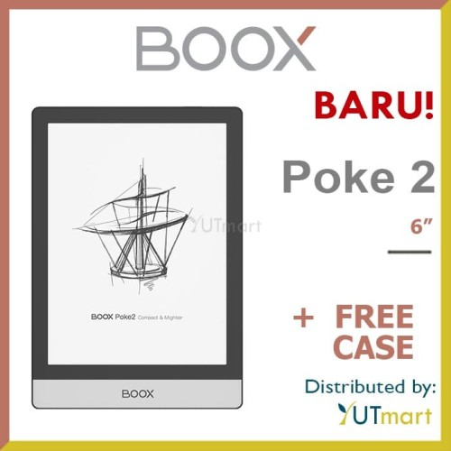 Foto Produk ONYX BOOX Poke 2 6-inch Octa Core Android 9.0 E-ink Reader + Free Case dari YUTmart