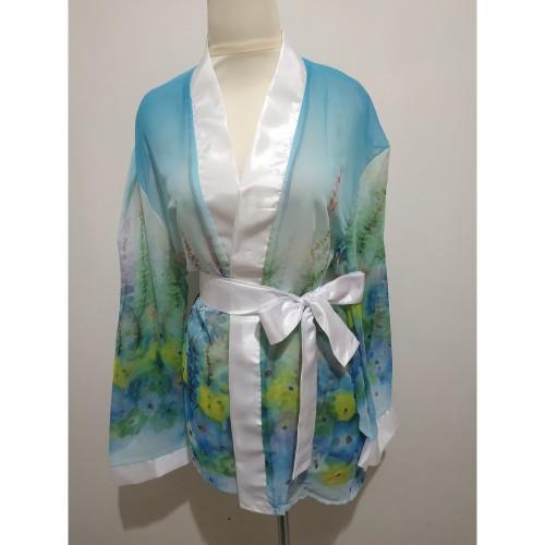Foto Produk L-791 Rainbow Flower Garden Lingerie Kimono dari Lingerie X Lingerie