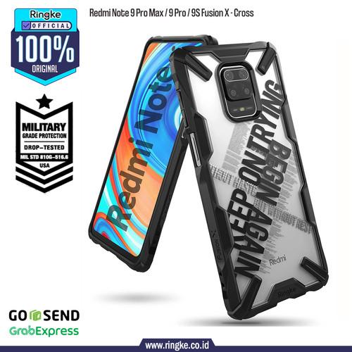 Foto Produk Ringke Redmi Note 9 Pro Fusion X Softcase Anti Crack Military Armor - Cross dari Official Ringke Partner