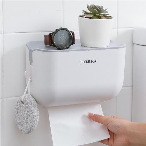 Foto Produk Tempat Tissue Tisu Toilet Wc Roll Gulung Tempel Dinding Keramik - Putih dari NUSSTUDENT