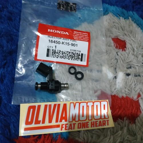 Foto Produk injector honda cb150 r lama 6 hole original 16450-K15-901 dari olivia_motor