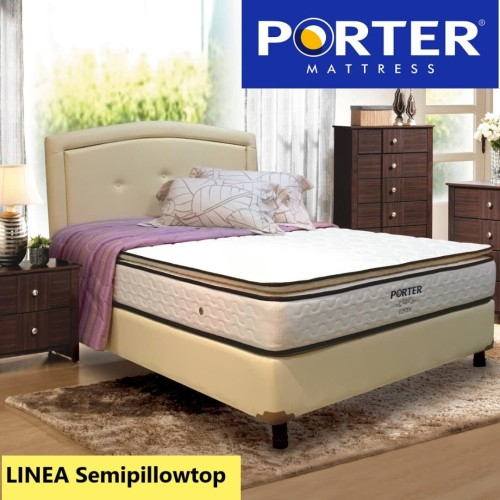Foto Produk Kasur Springbed PORTER - LINEA Semipillowtop Bonnel Spring - 120 x 200 dari PORTER Mattress