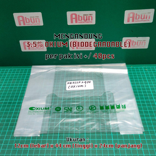 Foto Produk Kantong Kresek PE Bening Uk 24. (500gr) - POLOS dari Abun Aneka Plastik
