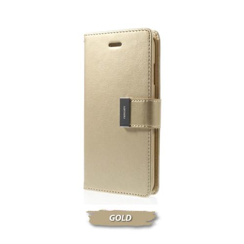 Foto Produk GOOSPERY iPhone SE 2020 Rich Diary Case - Gold dari Goospery Indonesia