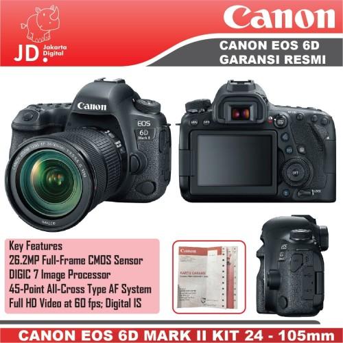 Foto Produk Canon EOS 6D MARK II -EOS 6D II kit 24-105mm F4L IS II GARANSI RESMI dari Jakarta Digital