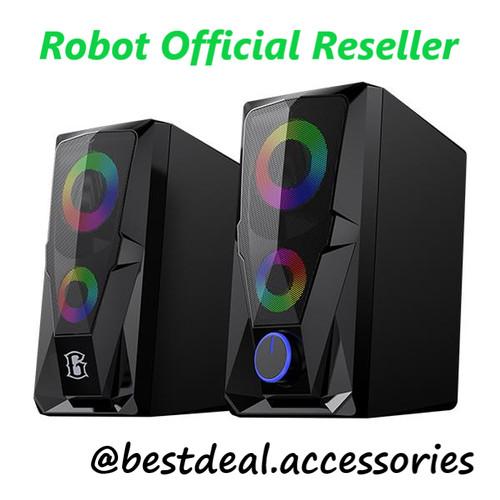 Foto Produk Robot RS200 E-Sport Gaming Speaker RGB Flow Lightning Effect with AUX dari bestdeal official