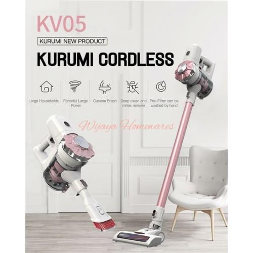 Foto Produk Kurumi KV-05 Rose Gold Cordless Stick Vacuum Cleaner / Kv05 Rosegold - Rose Gold dari Wijaya Homewares