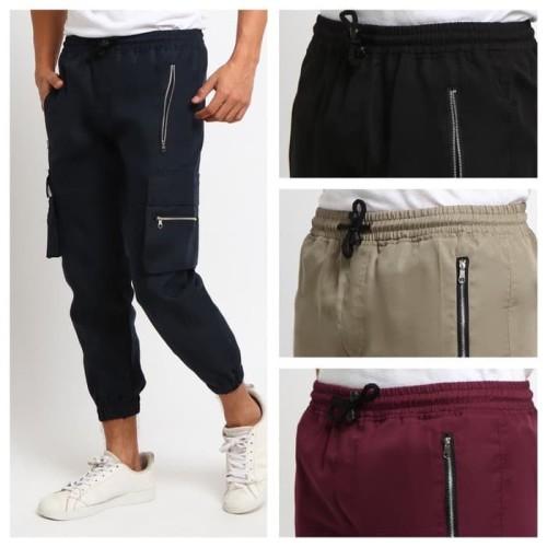 Foto Produk MILITARY celana jogger militer taktikal tactikal panjang pria - NAVY, L dari kayser official