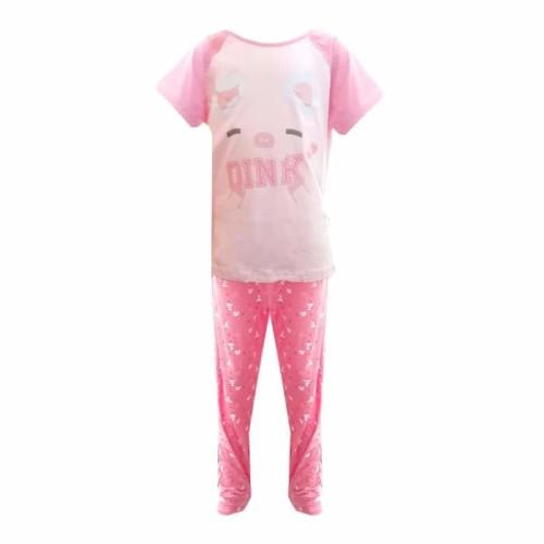 Foto Produk Piyama Baju Tidur Anak BABI PIGGY - M dari Mom Mei Cafe