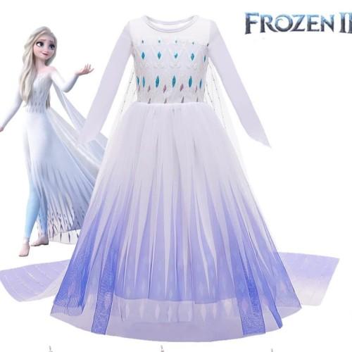 Foto Produk Kostum Frozen 2 Elsa Baju Dress Pesta Anak Princess Disney Elsa Anna - XL dari MadisonShop