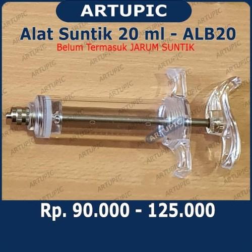 Foto Produk Alat Suntik ALB20 Spuit Syringe Suntikan 20 Ml Tabung Mika Hewan Besar dari ArtupicPeralatanPeternak