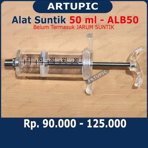 Foto Produk Alat Suntik 50 ml ALB50 Spuit Mika Plastik Syringe Sapi Babi Kambing dari ArtupicPeralatanPeternak