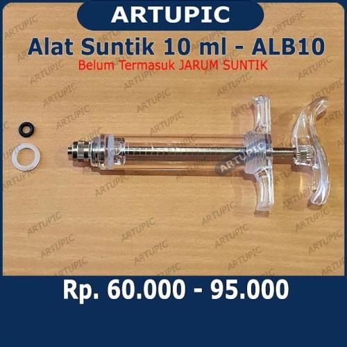 Foto Produk Alat Suntik ALB10 Spuit Syringe Suntikan 10 ml Tabung Mika Semi Auto dari ArtupicPeralatanPeternak