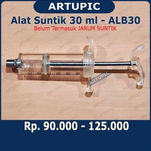 Foto Produk Alat Suntik 30 ml ALB30 Spuit Mika Syringe Hewan Besar Sapi Babi Domba dari ArtupicPeralatanPeternak