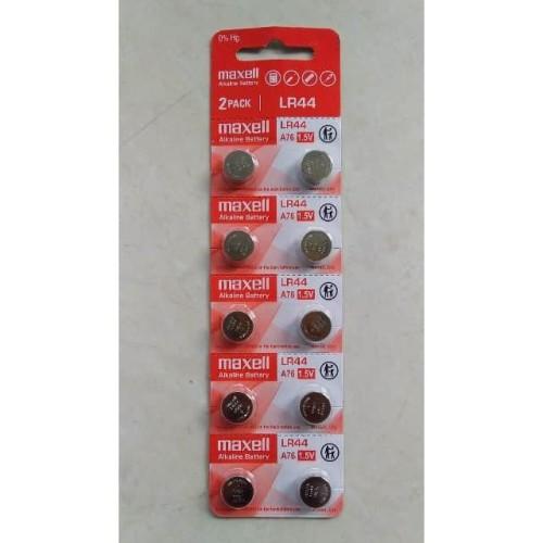 Foto Produk Baterai Maxell LR44 ( AG13 ) 1.55 V dari TriMedia Shop