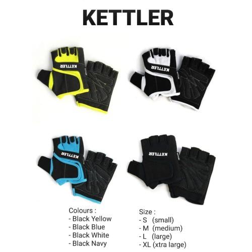 Foto Produk Sarung Tangan Fitness & Gym KETTLER 0988 ORIGINAL - Black Yellow, M dari DNA Sport & Music
