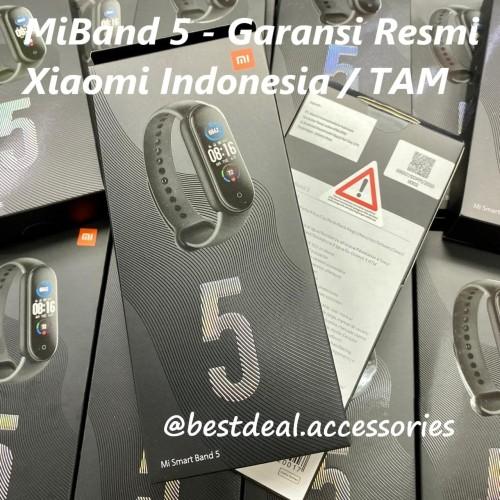 Foto Produk Xiaomi MiBand 5 Garansi Resmi Indonesia / TAM - Mi MiBand5 Mi Band 5 dari bestdeal official