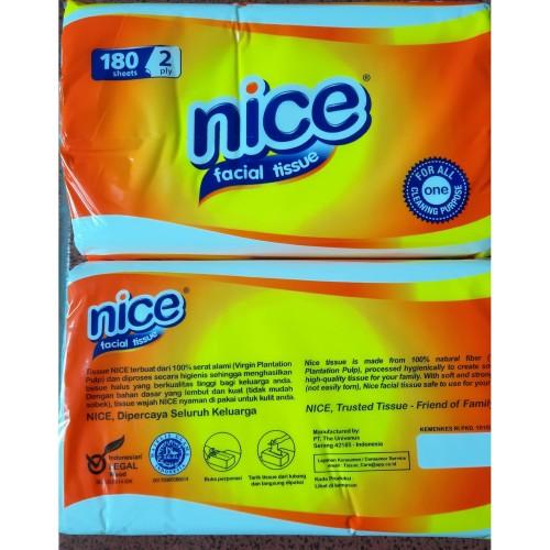 Foto Produk Tisu Nice 180 sheet 2 ply Facial Tissue dari Kahara_olshop