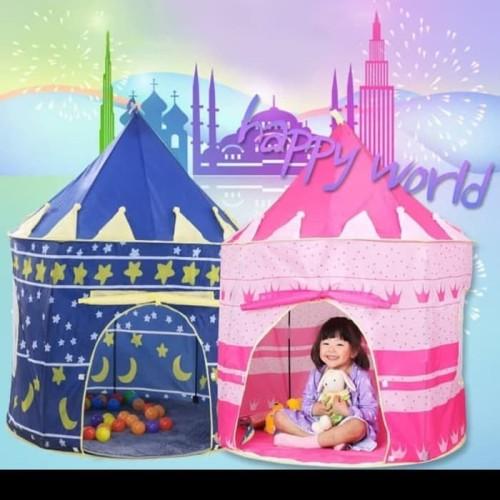 Foto Produk TENDA ANAK BERMAIN MODEL ISTANA PORTABLE CASTLE TENT FOR KIDS dari serbu sport