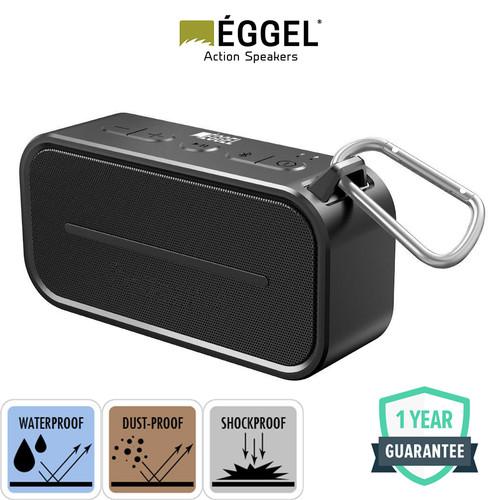 Foto Produk Eggel Active Waterproof Portable Bluetooth Speaker - Full Black dari EGGEL Official Store