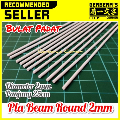 Foto Produk Plastic Beam Round 2mm Pla Beam Plastic Plate Custom Model Kit dari Gerbera's Corner