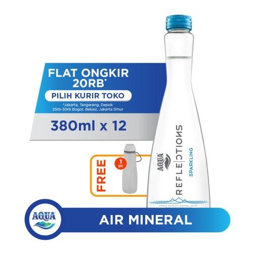 Foto Produk AQUA Reflections Sparkling (12x380ml) FREE Water Carrier dari AQUA Official Store