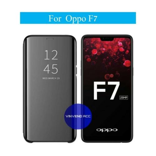 Foto Produk Flip Case Oppo F7 Clear View Standing Cover dari Vinvend ACC