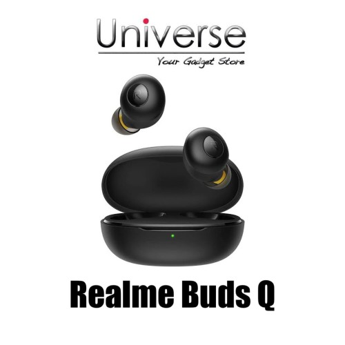 Foto Produk Realme Buds Q - Garansi Resmi Realme - Hitam dari Universe Store