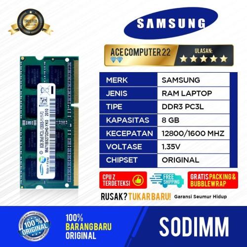 Foto Produk RAM SAMSUNG SODIMM PC3L / DDR3L DDR3 8GB PC 12800 dari ACE COMPUTER 22
