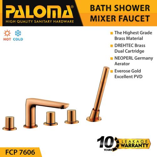 Foto Produk PALOMA FCP 7606 Keran Mixer Bathtub Shower Mandi Panas Dingin Kran Air dari PALOMA HARDWARE