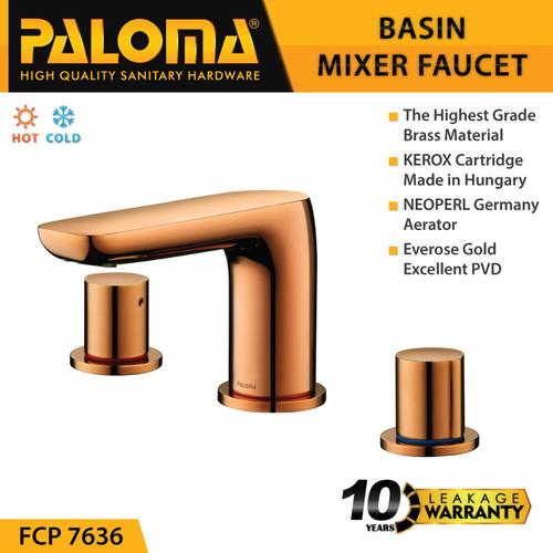Foto Produk PALOMA FCP 7636 Keran Mixer Wastafel Cuci Tangan Panas Dingin Kran Air dari PALOMA HARDWARE