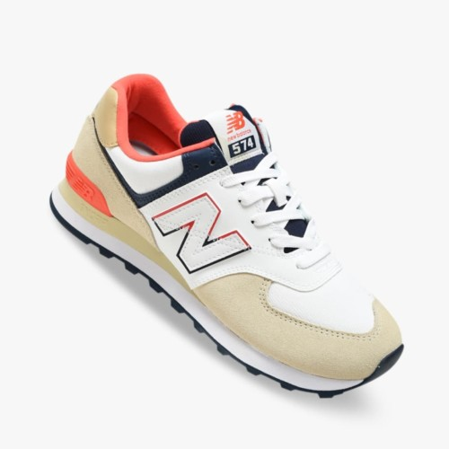New Balance 574 Mens Sneaker Shoes - Greyred