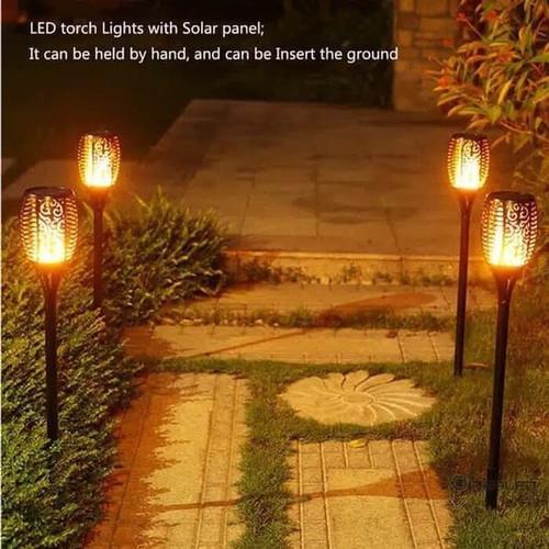 Jual Lampu Obor Api Led Lampu Taman Tenaga Surya Lampu Taman Solar Cell Lam Jakarta Pusat Superled Lighting Tokopedia