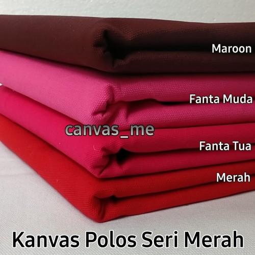 Foto Produk Kain Kanvas Polos Seri Merah - Merah dari canvas_me