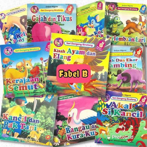 Foto Produk Paket 10 Judul Buku Cerita Anak Bilingual (Indoneisia - Inggris) - FABEL B dari Kinantikomik