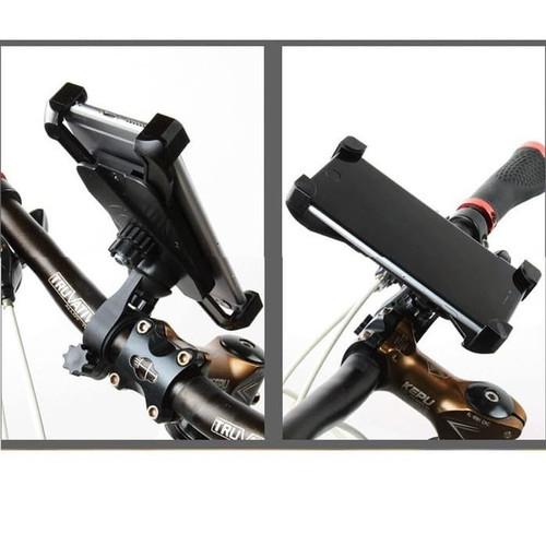 Foto Produk Phone Holder Sepeda H02 dengan 4 pegangan hp Bicycle Phone Holder dari daffin