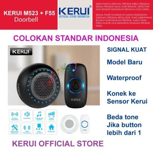 Foto Produk New Kerui Wireless Doorbell M523 Waterproof fullcolour LED dari KERUI OFFICIAL STORE
