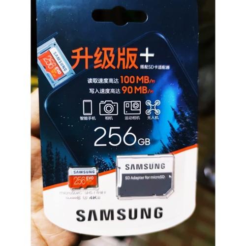 Foto Produk Samsung Micro SD Card 256 GB EVO Plus + Class 10 MicroSD 256GB 95MB/S dari lbagstore
