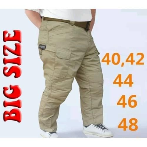 Foto Produk celana panjang pria tactical big size ukuran besar jumbo cargo murah - Hitam, 40 dari Arul army