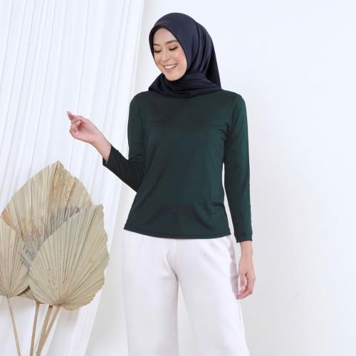 Foto Produk Wulfi Atasan Manset Polyester Dalaman Anti Panas Pinegreen - Ukuran 1 S-M dari Wulfi