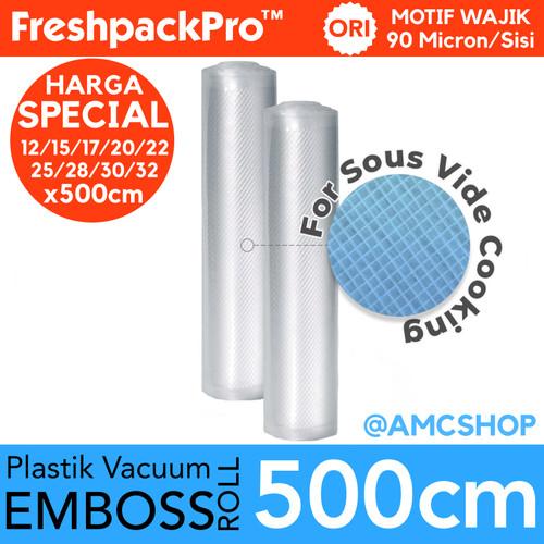 Foto Produk FreshpackPro 5 Meter Plastik Vacum Vacuum Sealer Packing Roll Embossed - 12x500CM dari amc_shop