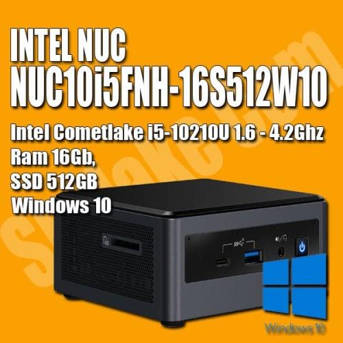 Foto Produk INTEL NUC NUC10i5FNH-16S512W10 (RAM 16GB SSD 512GB WIN10) MINI PC I5 dari Skylake com