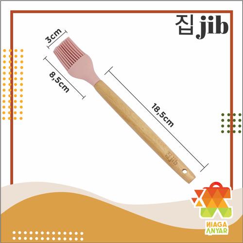 Foto Produk NA JIB Silicone Utensil / Spatula Silicon / Alat Masak Bahan Silikon - BRUSH, Pink dari Niaga Anyar Online Shop