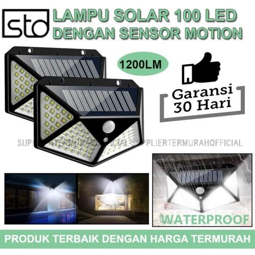 Foto Produk Lampu Taman 100 LED Solar Tenaga Surya Dengan Sensor Gerak dari SupplierTermurahOfficial