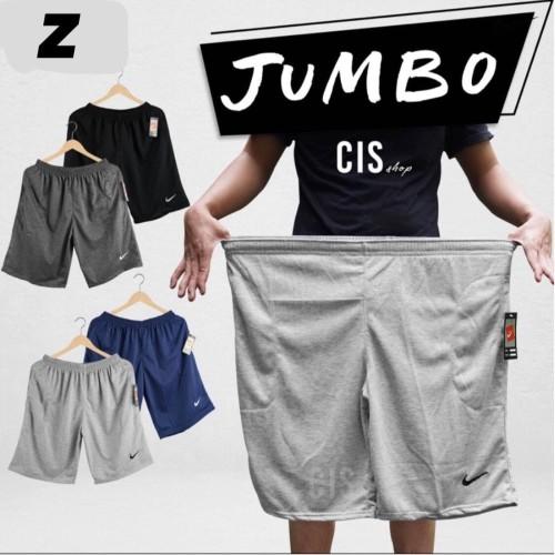 Foto Produk Celana Pendek Kaos Baby Terry Polos Nike Size JUMBO - Hitam dari zedikagrosir