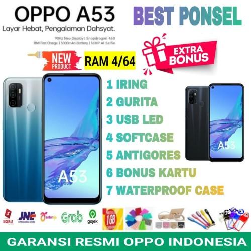 Foto Produk OPPO A53 RAM 4/64 GB GARANSI RESMI OPPO INDONESIA - hitam no bonus dari BEST PONSEL