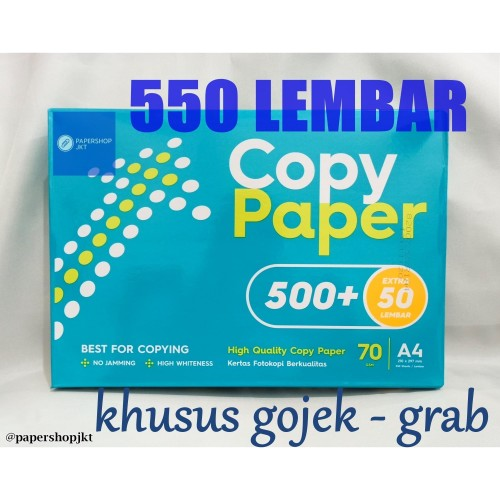 Foto Produk GOSEND! Copy Paper A4 70gram / Paper Print / Kertas Fotokopi (Per Rim) dari Paper Shop Jkt