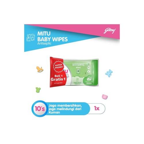 Foto Produk Mitu Baby Soft Care Wipes 10'S Antiseptic dari Raffardhan olshop