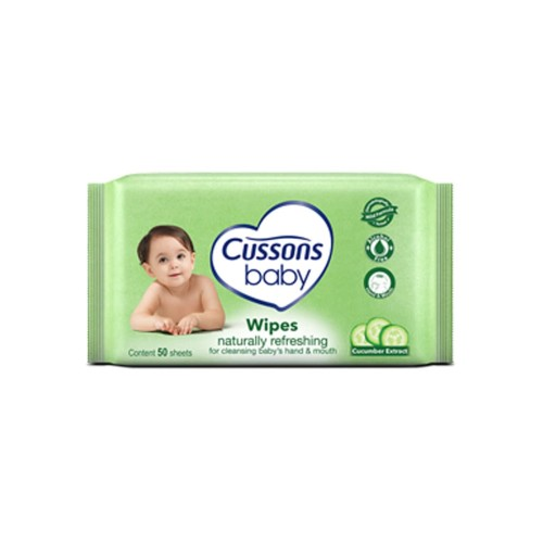 Foto Produk Cussons Baby Wipes 50'S Naturally Refreshing dari Raffardhan olshop
