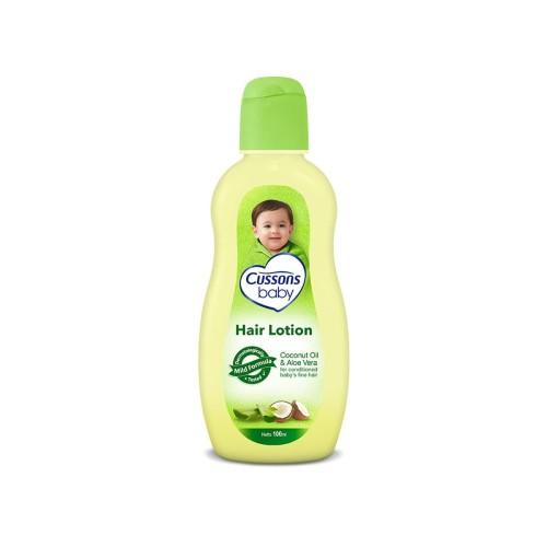 Foto Produk Cussons Baby Hair Lotion Coconut Oil & Aloe Vera 100Ml dari Raffardhan olshop